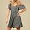 Thumbnail: Charcoal Open Shoulder Dress