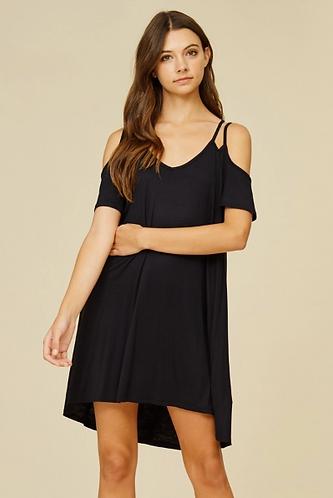 Black Double Strap Dress