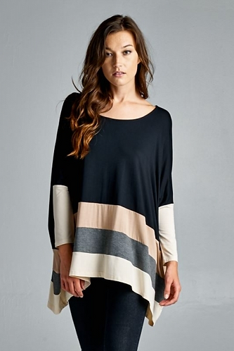 Color Blocking Oversized Sweater