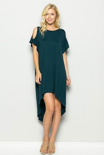 Pine Hi-Low Dress