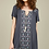 Thumbnail: Embroidered Dress with Slit Shoulders
