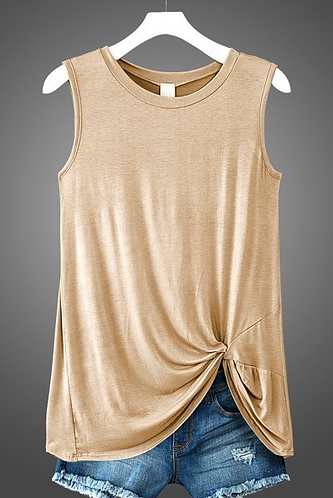Taupe Knot Tank