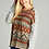 Thumbnail: Orange and Grey Patterned Sweater