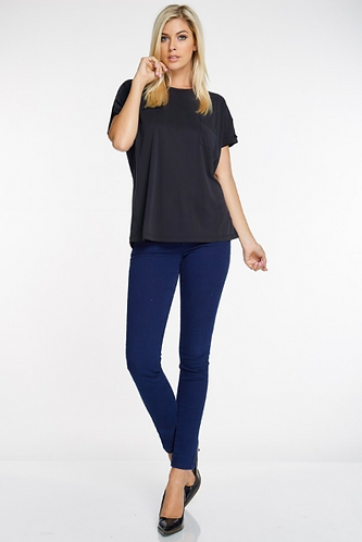 Short Sleeve Top with Pocket