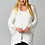 Thumbnail: Ivory V-Neck Top with Lace Sleeves-PLUS