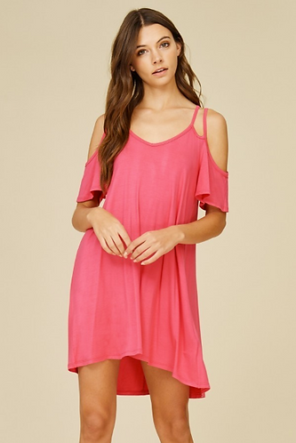 Coral Double Strap Dress