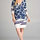 Thumbnail: Side Ruched Floral Border Wrap Dress