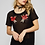 Thumbnail: Black Mesh Top with Flower Patch