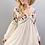 Thumbnail: V-Neck Embroidered Boho Dress
