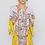 Thumbnail: Floral Printed Short Dress w/ Long Sleeve