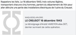 LE CREUSOT 16 décembre 1943