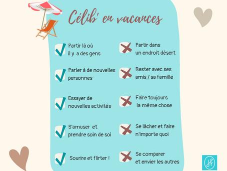 Célib' en vacances : votre checklist de l'été