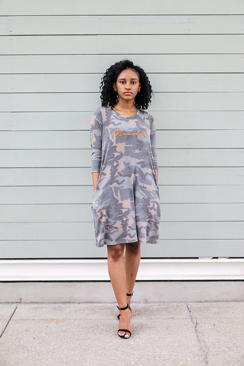 Meerkat Camo Summer Dress