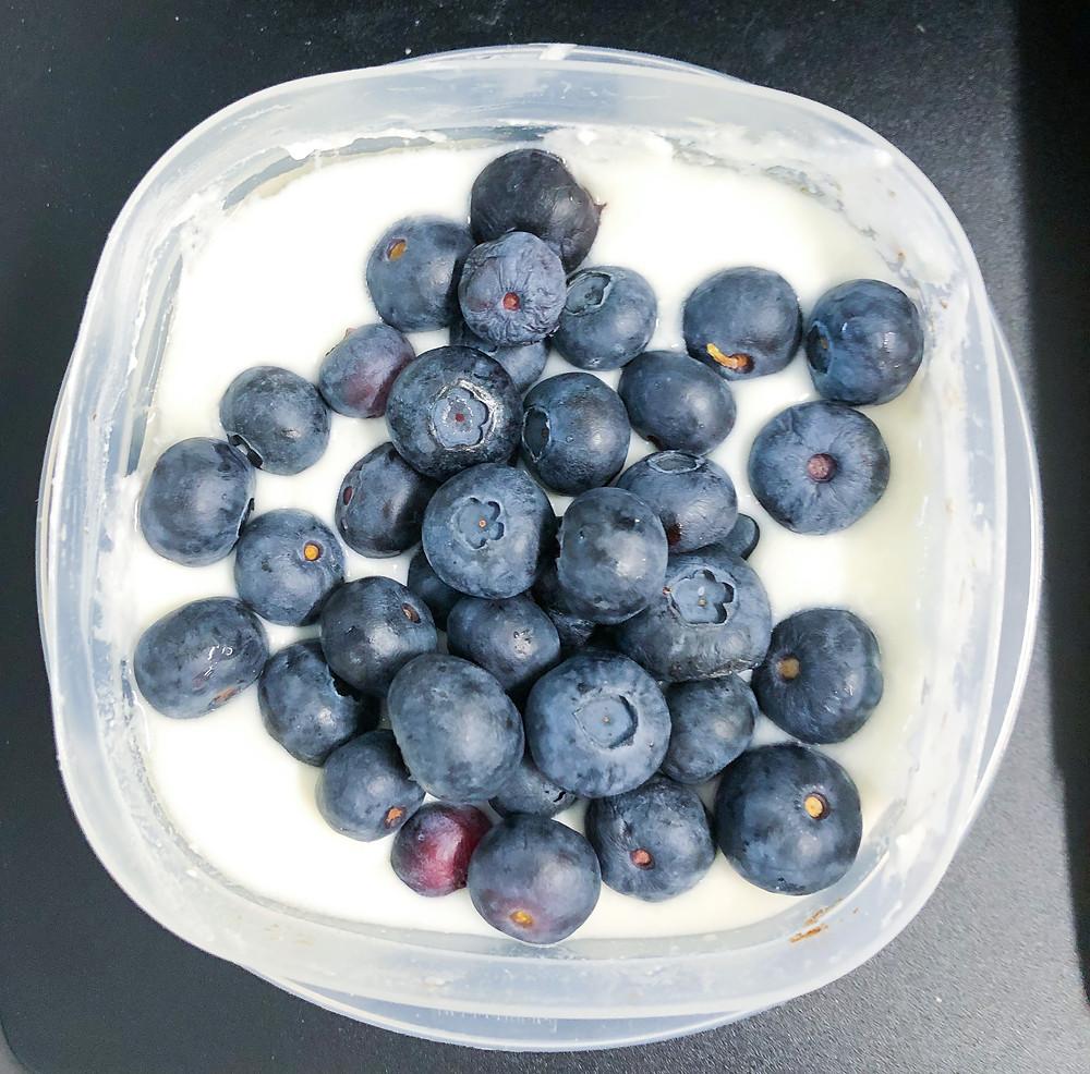 blueberry pancake maple yogurt healthy snack easy