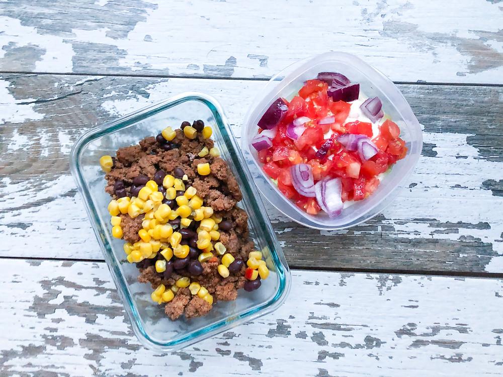 meal plan meal prep taco bowl
