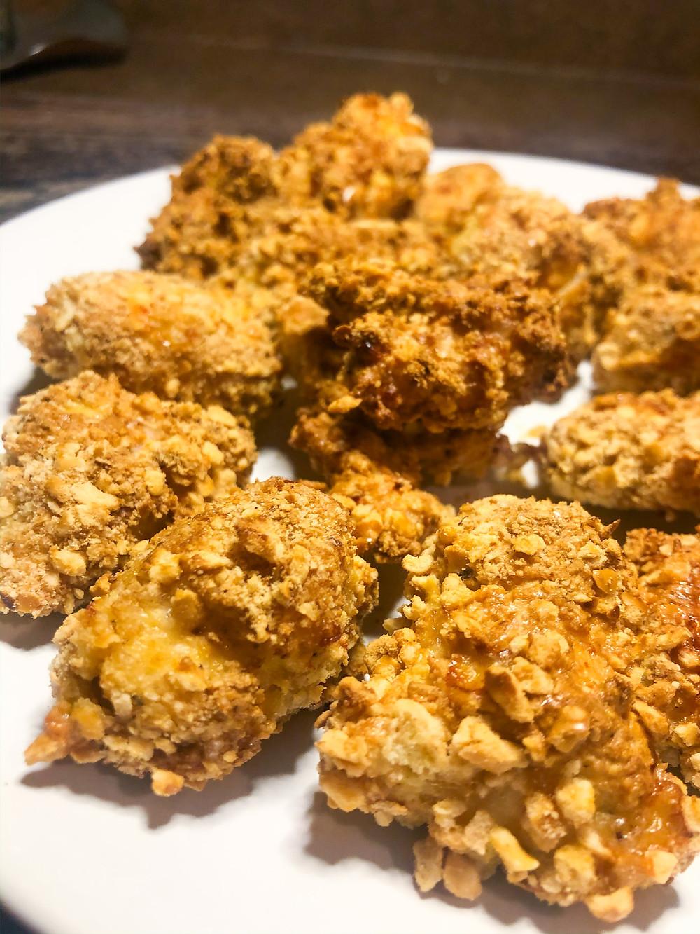 grain free glutenfree dairyfree chicken nuggest nuggets air fryer oil free healthy