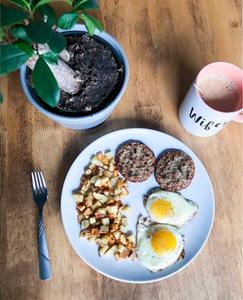 diner breakfast healthy easy sausage turkey eggs potatoes ghee