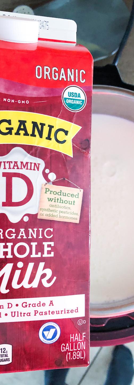 whole milk organic yogurt instant pot