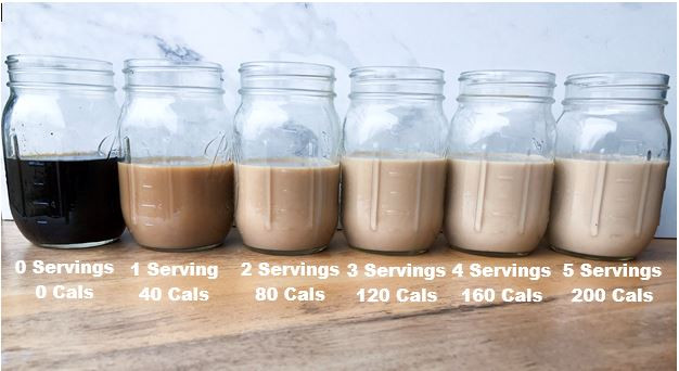 creamer coffee calories serving size