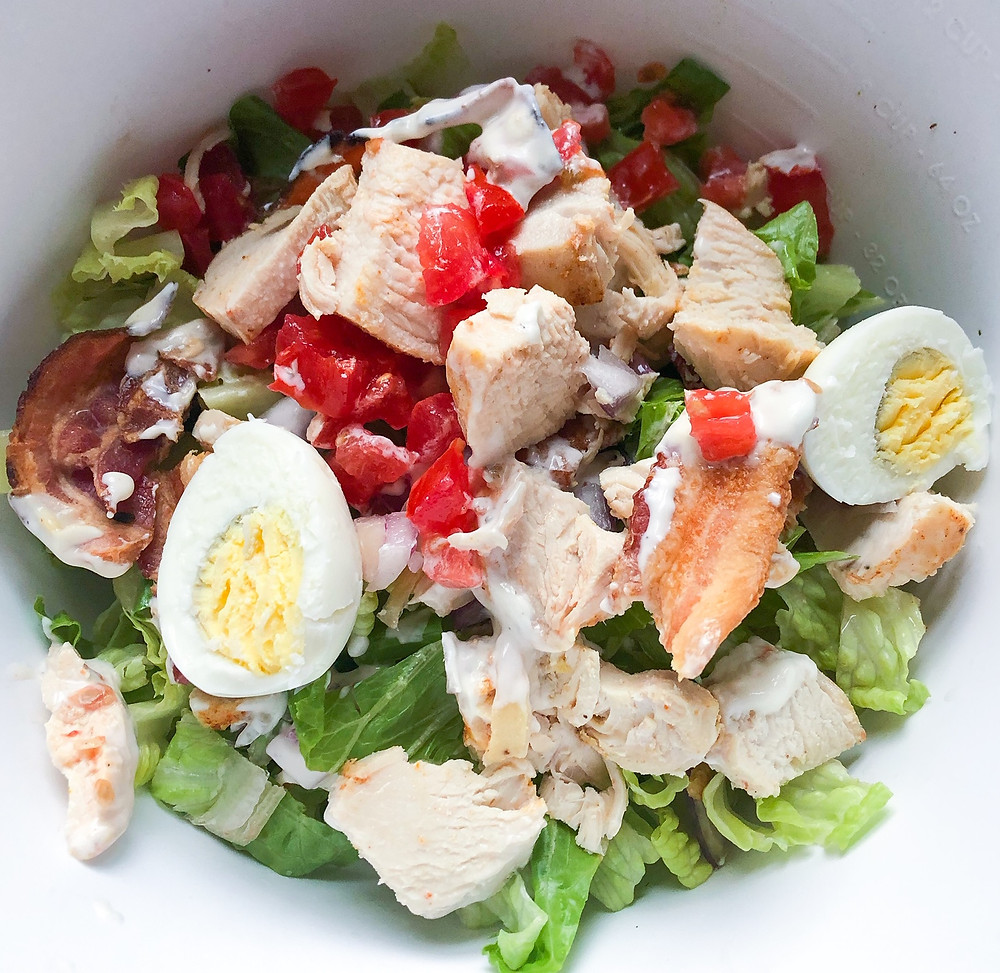 cobb salad healthy lunch easy