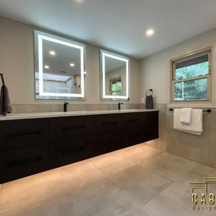Slick Contemporary bathroom