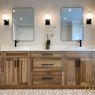 Stunning Hickory cabinets natural Warm movement.