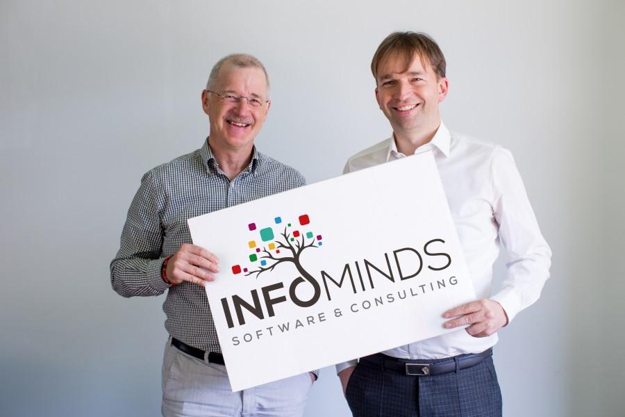 Die beiden Geschäftsführer von INFOMINDS: Paul Schäfer (links) und Peter Nestl