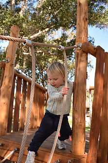 A child in a playground