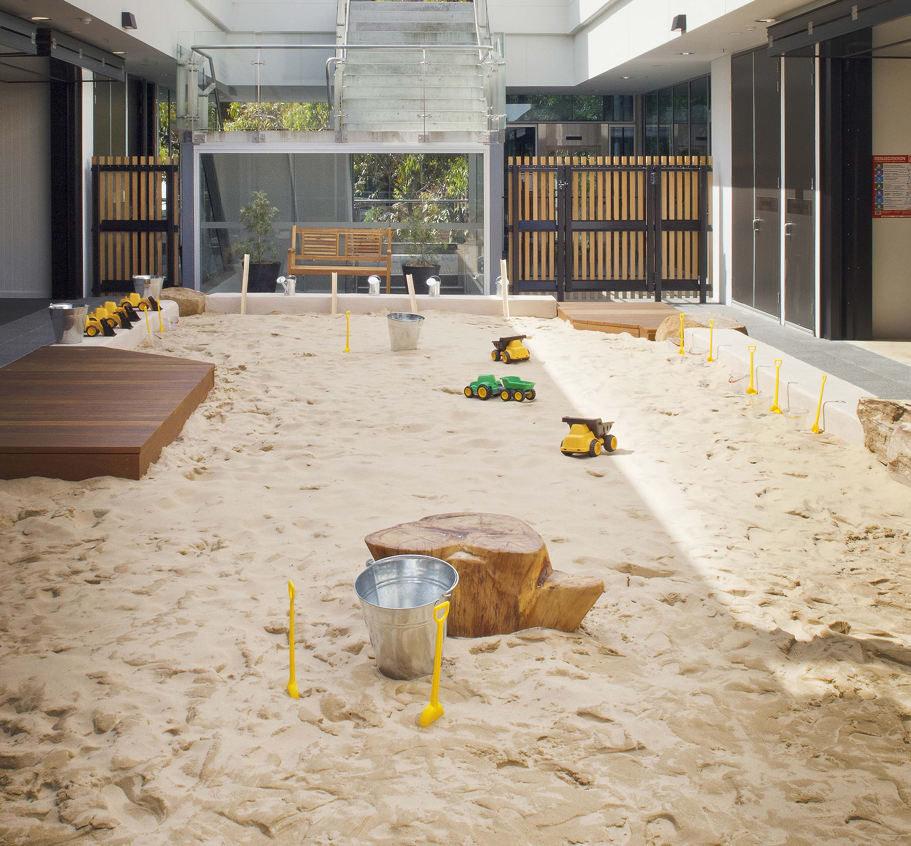 Sand Pit with Decks
