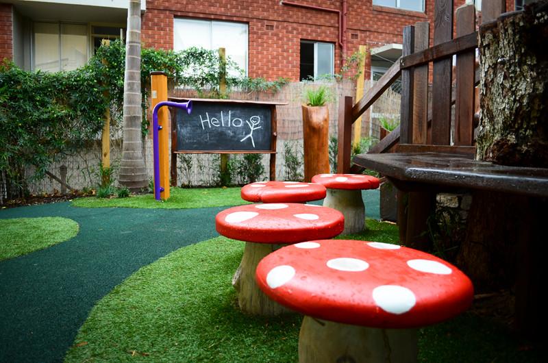 Mushroom seats and chalkboard.jpg