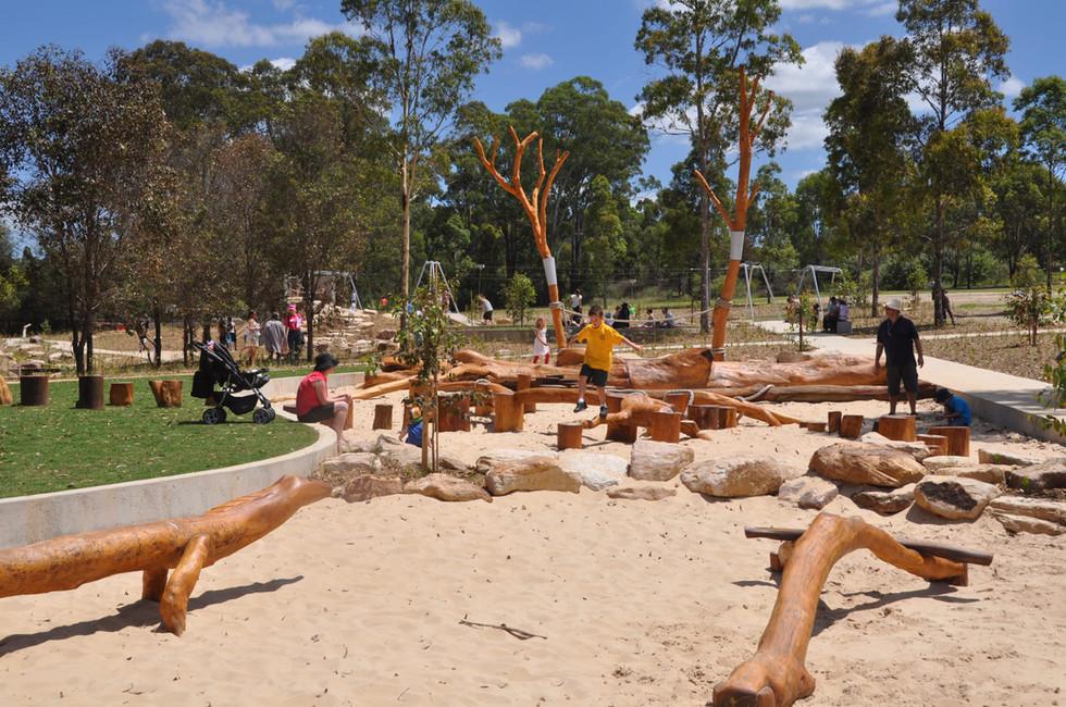 Pimelea Park Log Playground