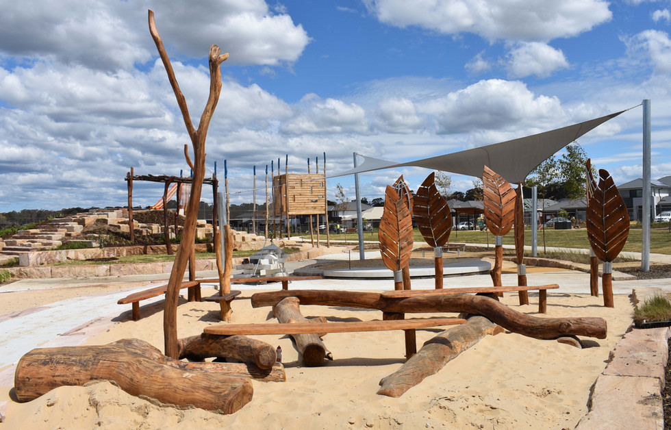 Children's Log Play Area