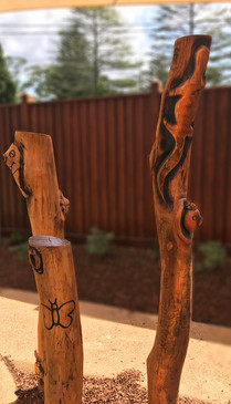 Carved totems