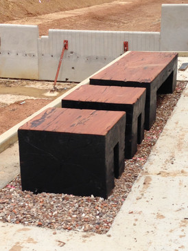 Log block benches