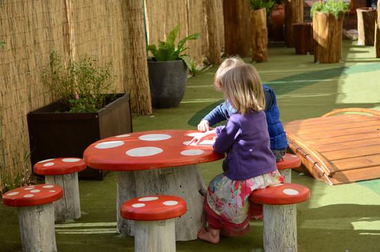mushroom seats and tables