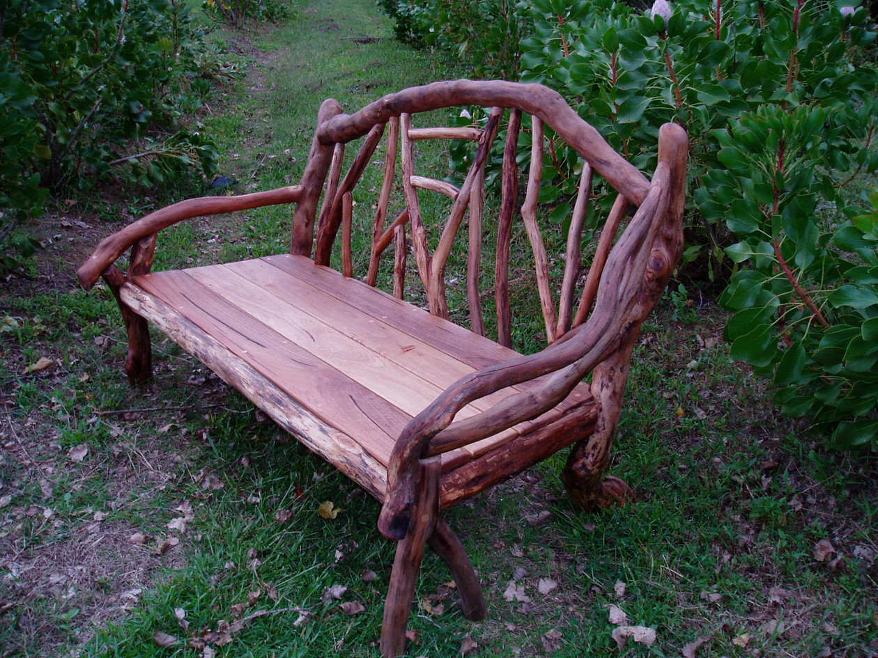 Timber and branch bench
