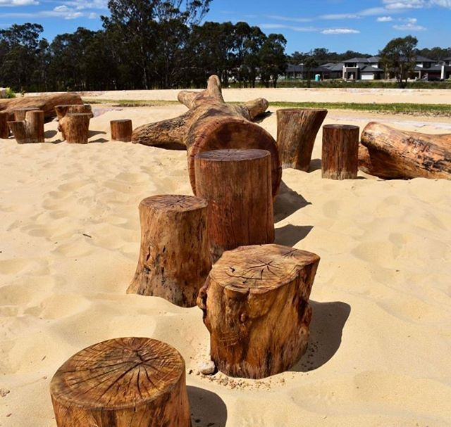 Natural timber log stepper