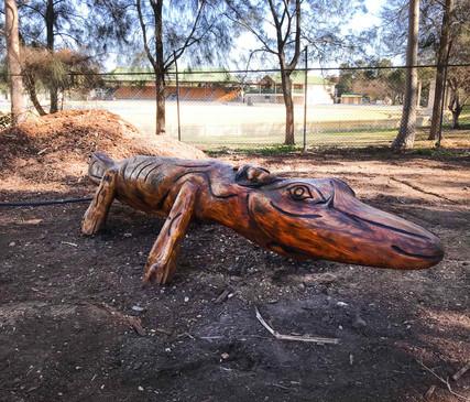Bankstown Lizard sculpture