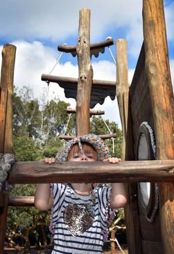 Child on ship playground