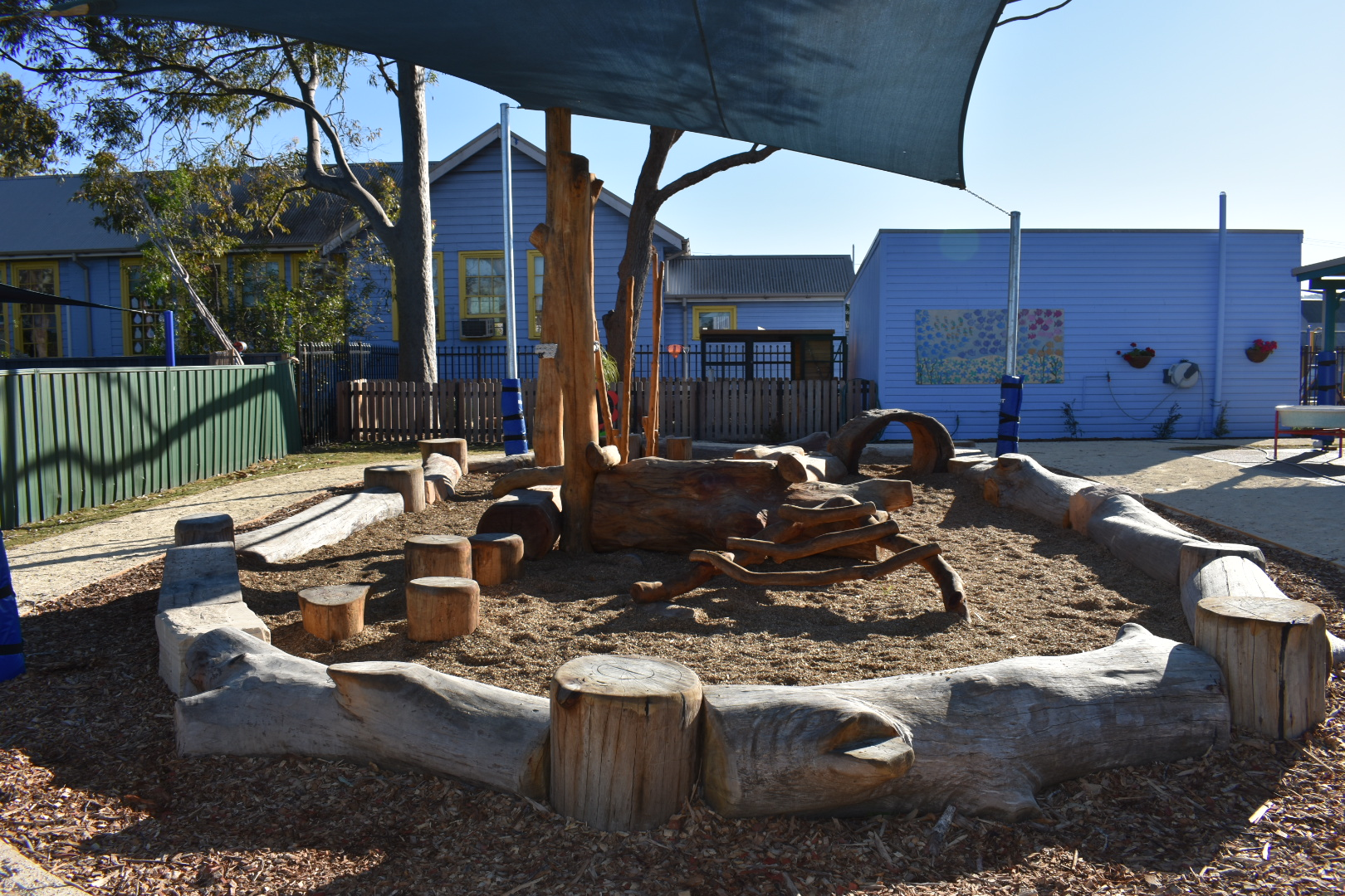 Nature Play log area