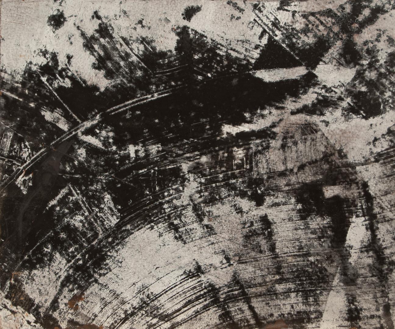 Black Snowflake, acrylic on panel, 12x10, 2016