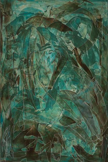 Dalliance, acrylic on panel, 24x36, 2017