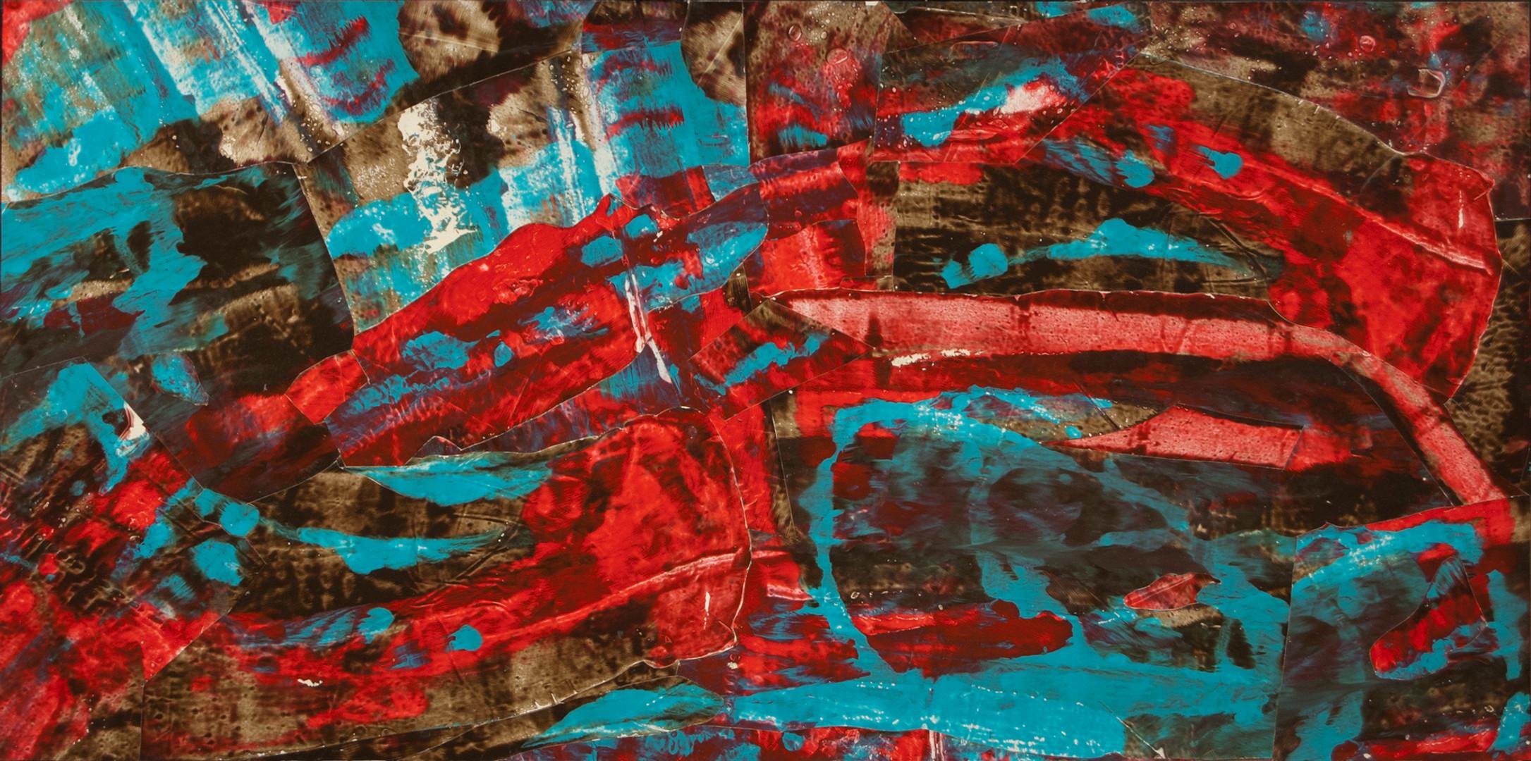 Scarab, acrylic on canvas, 48x24, 2018