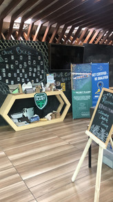 Our booth at Apiary Co-Working Space