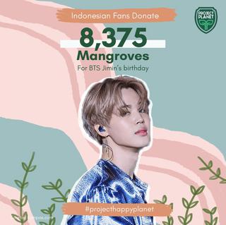 INDONESIAN FANS DONATE 8375 MANGROVES FOR BTS JIMIN'S BIRTHDAY