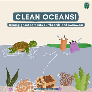 CLEAN OCEANS! TURNING GHOST NETS INTO SURFBOARDS AND SWIMWEAR