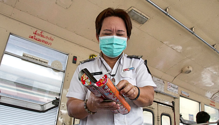 Ticket lady on the bus