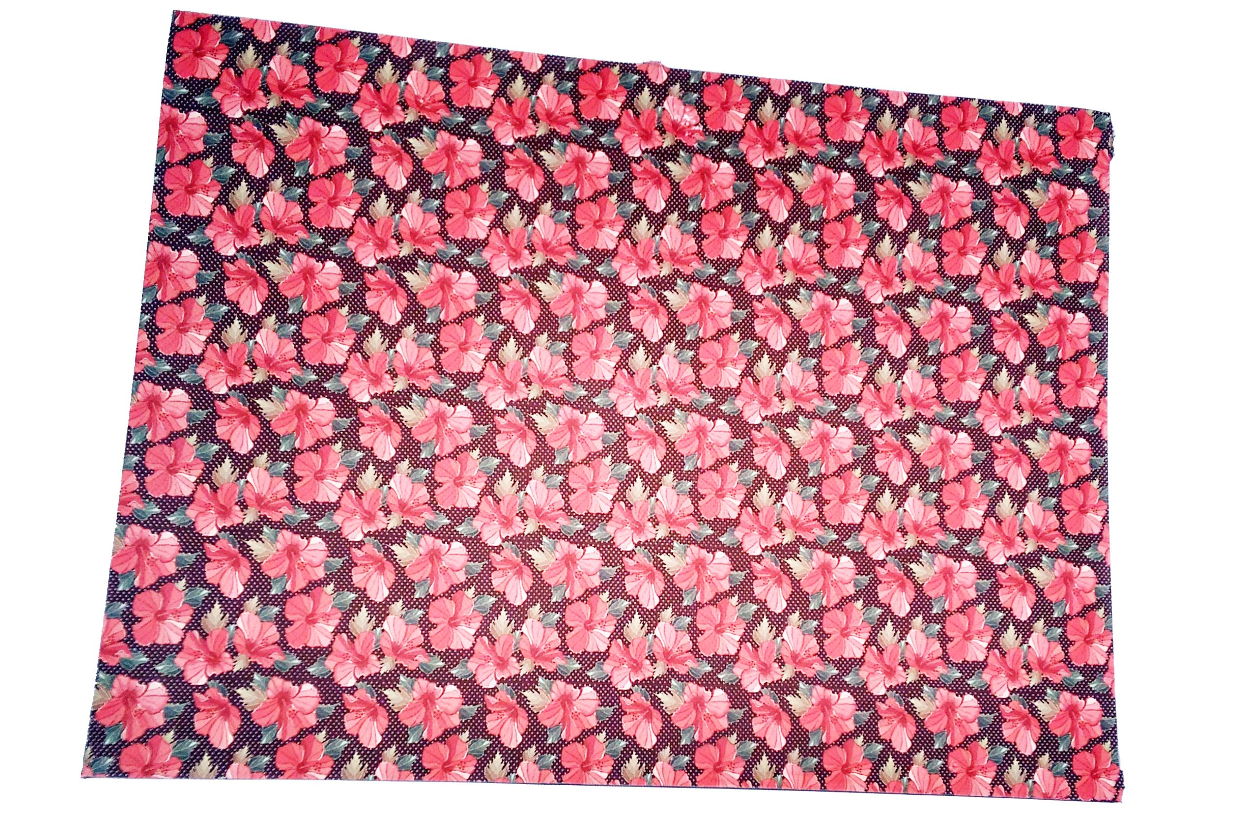 Meia Placa Estampada Floral com Poá