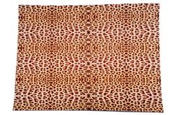 Meia Placa Estampada Leopardo