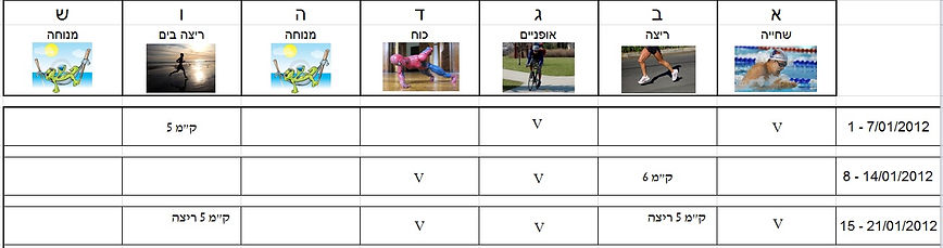 תכנית אימון פשוטה